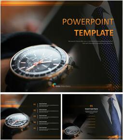 남성 시계 - 무료 PowerPoint 템플릿_00