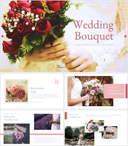 Wedding Bouquet Google Slides Template Design_00