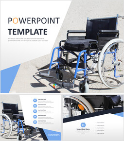 Wheel Chair - Free PPT Template_6 slides