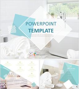 화이트 욕실 - 무료 PowerPoint 템플릿_00