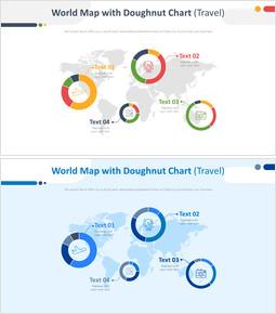 도넛 형 차트가있는 세계지도 (여행)_00