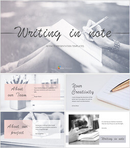 Writing in Note Keynote Templates_34 slides