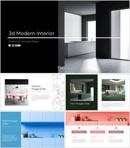 3d Modern Interior Simple Google Slides Templates_00