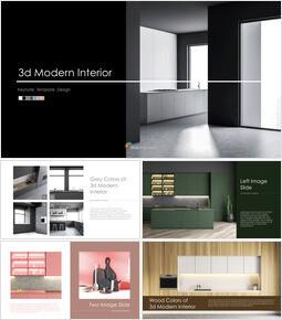 3d Modern Interior Simple Keynote Template_00