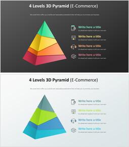 4 레벨 3D 피라미드 다이어그램 (전자 상거래)_00
