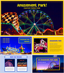 Amusement Park PPT Templates Design_40 slides