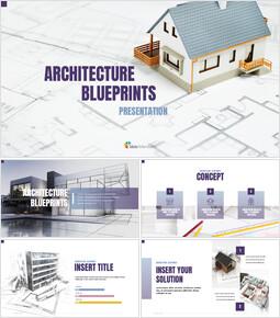 건축 설계도면 Google 피피티 템플릿_00