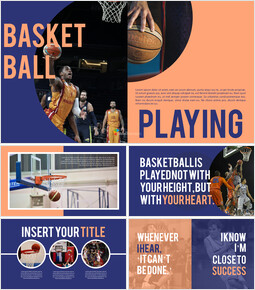 Basketball Playing Best PPT Templates_00