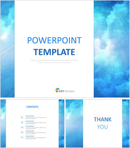 Blue Sky Background With White Letters Free Powerpoint Templates Design