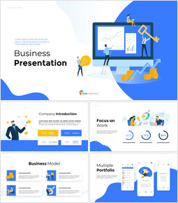 Business Illustration Pitch Business PPT_00