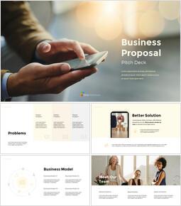 Proposta d\'affari Design semplice delle diapositive_00