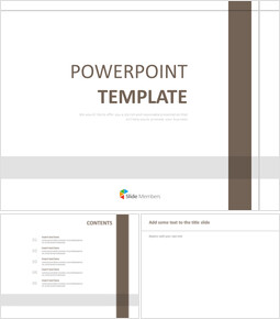 갈색과 회색으로 체크 무늬 라인 - 무료 Google 슬라이드 템플릿_00