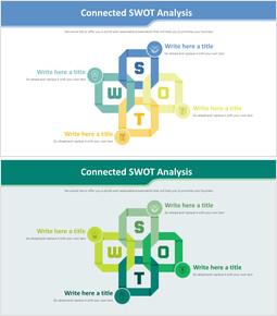 연결된 SWOT 분석 다이어그램_00
