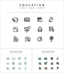 Formazione scolastica Set di icone vettoriali_00