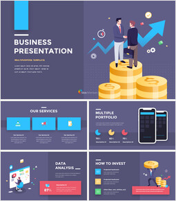Financial Business Creative Report Google Slides Presentation Templates_00
