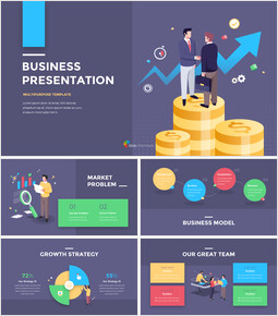 Financial Business Creative Report PPT Templates Design_00