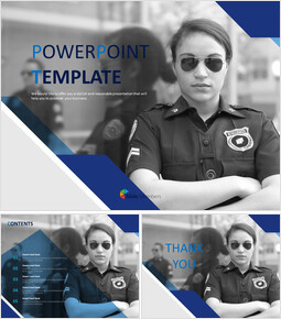 Free Business Google Slides Templates - Female Police Officer_00