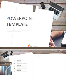 Free Google Slides - Office Desk_6 slides