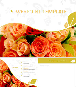 Free Google Slides Template - Bouquet of Scarlet Flower_00