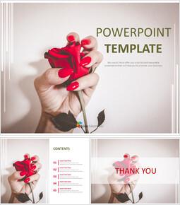 무료 구글 슬라이드 템플릿 디자인 - 매니큐어와 꽃_00