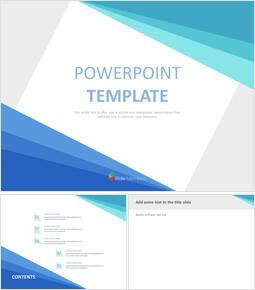 Google 슬라이드 템플릿 무료 다운로드 - 그라데이션 파란색 삼각형_00