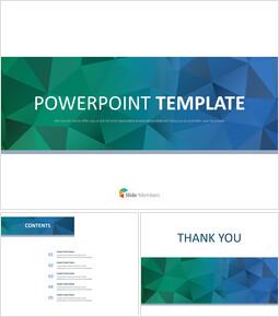 구글 슬라이드 템플릿 무료 다운로드 - 진한 녹색과 진한 파란색 삼각형 패턴_00
