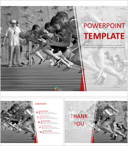 Google Slides Templates Free Download - Running Toward Gold Medal_00