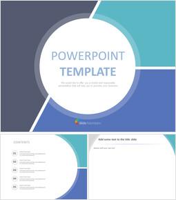 3 개의 동일한 부분으로 나누어 진 회색 청색 사각형 윤곽 - Google 슬라이드 무료 다운로드_00