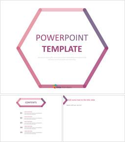 분홍색과 보라색 선으로 만든 육각형 - 무료 프리젠테이션 템플릿_00