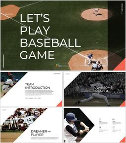 야구 경기 Google 프레젠테이션 템플릿_00