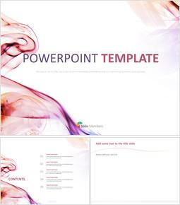 분홍색과 보라색 파도 - 구글 슬라이드 템플릿 무료 다운로드_00