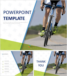Professional Cyclist - Google Slides Template Free Download_00