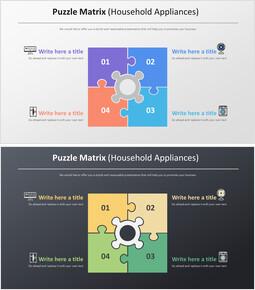퍼즐 매트릭스 다이어그램 (가전 제품)_2 slides