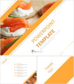 주황색 대각선으로 훈제 연어 - Google 슬라이드 템플릿 무료 다운로드_00