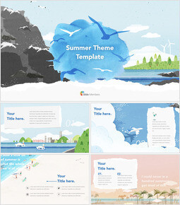 Summer Theme Template Apple Keynote Template_31 slides