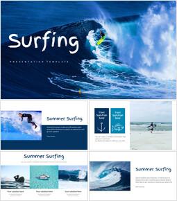 서핑 Google 슬라이드 프레젠테이션 템플릿_00