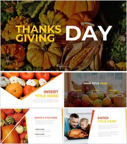 Thanksgiving day Simple Presentation Google Slides Template_40 slides