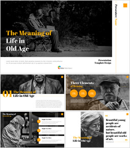 The Meaning of Life in Old Age Best PowerPoint Templates_00