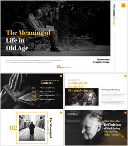 The Meaning of Life in Old Age Google Slides Templates_00