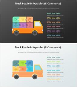 트럭 퍼즐 Infographic 다이어그램 (전자 상거래)_00