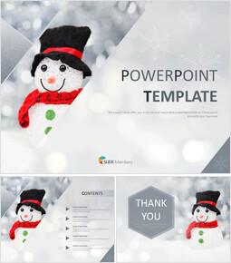 겨울 눈사람 - Google 슬라이드 이미지 무료 다운로드_00