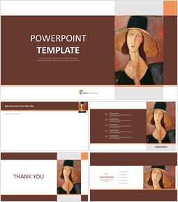 """Amedeo Modigliani """"큰 모자에있는 Jeanne Hebuterne의 초상화"""" - 프리젠테이션 무료 이미지_00"""