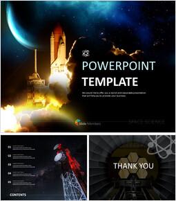 우주 과학 - 무료 비즈니스 구글 슬라이드 템플릿_00