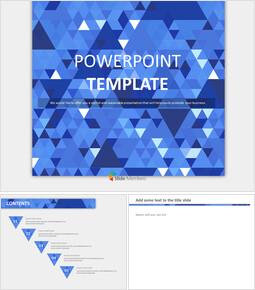 딥 블루, 스파클링 트라이앵글 - 무료 Google 슬라이드 템플릿 디자인_00