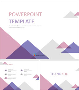 무료 Google 슬라이드 배경 - 분홍색, 자주색, 회색 삼각형_00