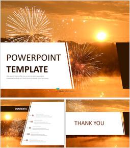 무료 구글 슬라이드 템플릿 디자인 - 새해의 일출_00