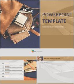 Free Google Slides Template Design - Bags and Belongings_00