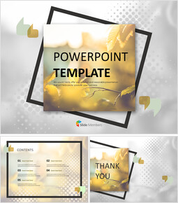 Free Google Slides Template Design - Leaves Turning Red and Yellow_00
