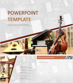 무료 구글 슬라이드 템플릿 디자인 - 오케스트라 악기_00