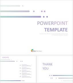 무료 Google 슬라이드 템플릿 디자인 - 보라색 간단한 선_00
